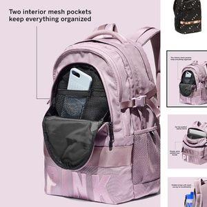 Pink Collegiate Backpack Lilac Victoria Secret